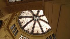Zagreb Octagon - European architecture in shopping centre Stock Footage