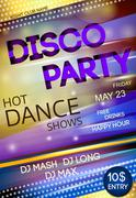 Night club disco party poster Stock Illustration
