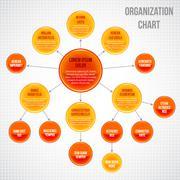 Stock Illustration of Organizational chart infographic