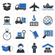 Logistic Service Icons Stock Illustration