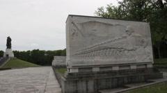 Soviet War Memorial in Treptower Park, Berlin, Germany - stock footage