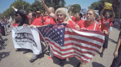 Immigration Reform Rally Stock Footage