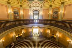 california capitol statehouse rotunda - stock photo