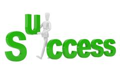Stock Illustration of success letter  in isolate with clipping path