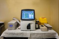 blood gas analyzer - stock photo