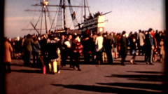 Mayflower II Full scale replica of pilgrim ship Plymouth 1970s vintage historic  Stock Footage