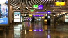 Airport, Frankfurt, Departure area Stock Footage