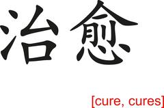 Chinese Sign for cure, cures - stock illustration