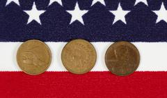 American history of the once cent piece Stock Photos
