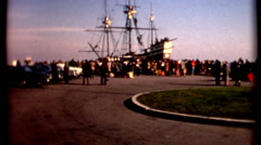 Mayflower II Full scale replica of pilgrim ship Plymouth 1970s National Day o Stock Footage