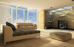 living room. - stock illustration