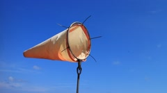 Wind Sock and Blue Sky Stock Footage