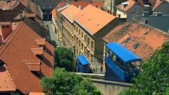 Overhead view of European Funicular Railway Stock Footage