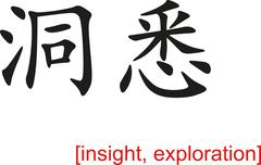 Stock Illustration of Chinese Sign for insight, exploration