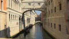 Bridge of Sighs, Venice Stock Footage