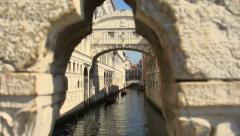 Bridge of Sighs, Venice - dolly reveal Stock Footage