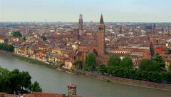 Cityscape of Fair Verona, Italy Stock Footage