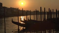 Venice sunrise - Grand Canal Stock Footage