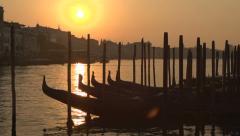 Venice sunrise - slow motion Stock Footage