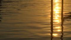 Abstract sun reflection in water Stock Footage