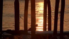 Venice sunrise detail - slow motion Stock Footage