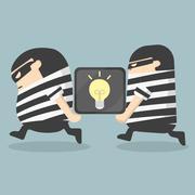 Idea stealing Stock Illustration