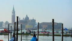 Vogalonga regatta, Venice, Italy - start Stock Footage