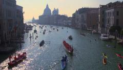 Stock Video Footage of Vogalonga regatta, Venice, Italy