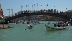 Vogalonga regatta, Venice, Italy Stock Footage