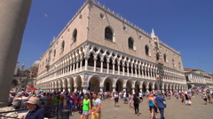 Tourists in San Marco Square, Venice Stock Footage