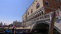 Busy tourist area of Venice, Italy in height of summer Stock Footage
