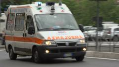 An Italian Ambulance - stock footage