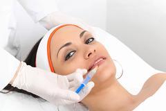 lips augmentation - stock photo