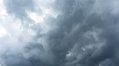Dark storm clouds are moving fast at viewer - timelapse 4k Stock Footage