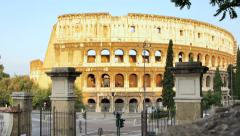 Colosseum, Rome, Dawn - stock footage