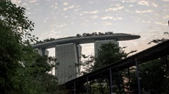 4k Ultra HD time lapse video of Marina Bay Sands, Singapore(TL-MBS 8) Stock Footage