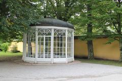 Tea House ( gazebo ) Sound of Music - stock photo