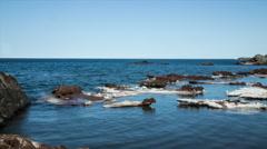 last remaining ice chunks on lake superior - stock footage