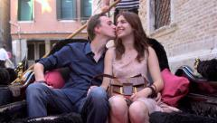 Romantic Couple - Gondola Selfie, Venice, Italy Stock Footage