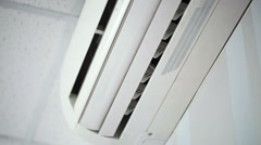 Air-conditioner  close-up Stock Footage