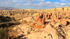 Fairy chimney rock formation in cappadocia, turkey Stock Footage