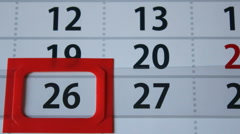 Calendar zoom Stock Footage