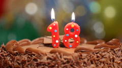 18th birthday cake with candles Stock Footage