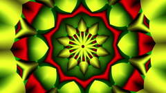 hypnotic fractal flower Yellow & Red - LoopNeo VJ Loops HD 1920X1080 - stock footage