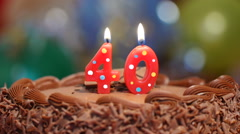 Cake for 40th birthday Stock Footage