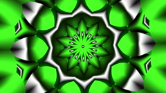 Green Kalidoscope Flower - LoopNeo VJ Loops HD 1920X1080 Stock Footage