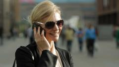 Woman on cell phone Stock Footage
