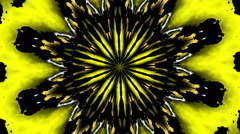 hypnotic fractal flower grunge Yellow - LoopNeo VJ Loops HD 1920X1080 - stock footage
