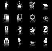 Applications icon set Stock Photos