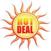 hot deal - stock illustration